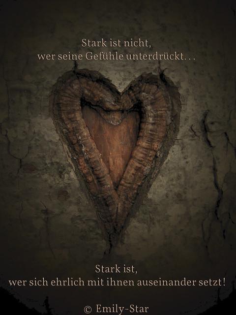 Stark ist nicht, wer seine Gefühle unterdrückt... Stark ist, wer sich ehrlich mit ihnen auseinander setzt! © Emily-Star